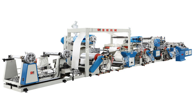 Three Mainframe Extrusion Film Laminating Machine Unit (sterile packet) , Milk Box Laminating Machine
