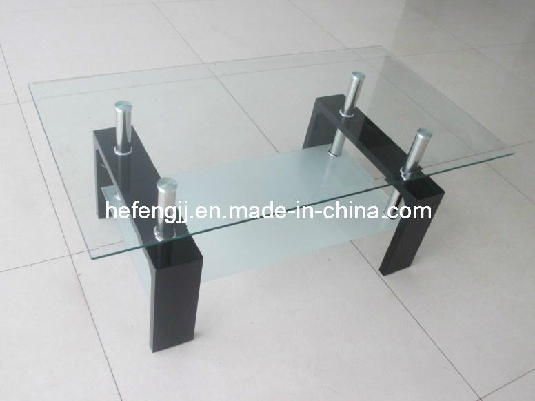 Modern High Gloss MDF Glass Coffee Table