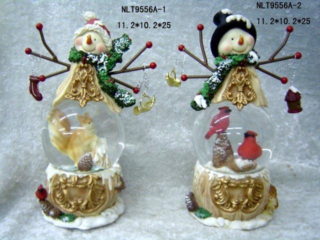 China polyresin christmas gift water ball nlt a
