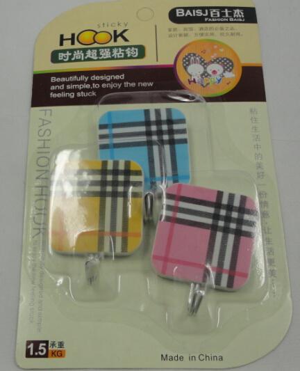 Plastic Adhesive Wall Hook Cloth Hooks Coated Hook