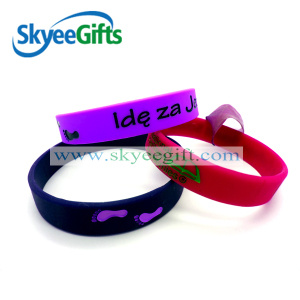 Custom Debossed Silicone Bracelet for Promotion