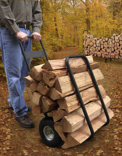 USA Log Caddy With Cover
