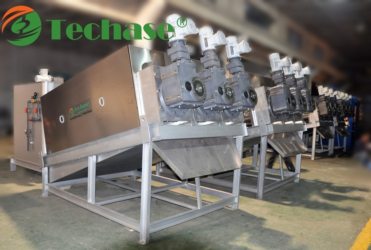 (10-31) Techase Screw Press-Lower Power Consumption Than a Centrifuge Machine