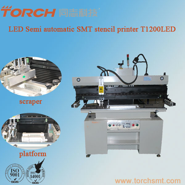 SMT High Precision Solder Paste Screen Printer T1200LED for PCB Printing