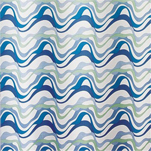 Hookless Fabric Shower Curtain with Printed/Jacquard Fabric