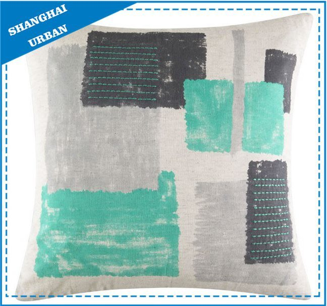 Vintage Colorblock Shade Polyester Filled Cushion