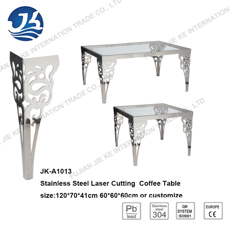 New Design Laser Cutting Stainless Steel Furniture Coffee Table