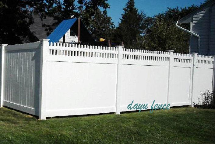 Fronti re de s curit de pvc de jardin de piquet de dessus for Barriere de jardin pvc