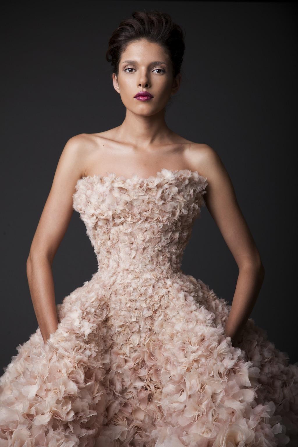 Stunning Organza Pink Short Wedding Dress WDQH011