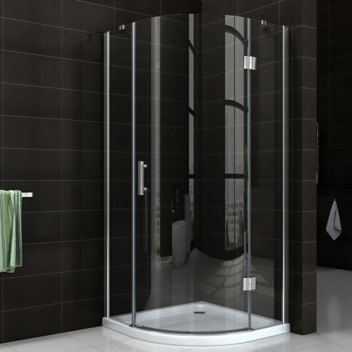 Easy Clean Bathroom Simple Frameless Hinge Shower Door Nano