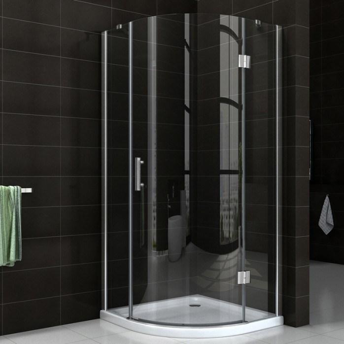 Nano Easy Clean Glass Bathroom Simple Frameless Hinge Shower Door