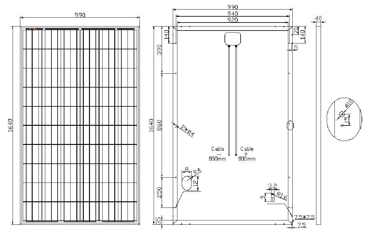 30V 250W Poly Solar Panel