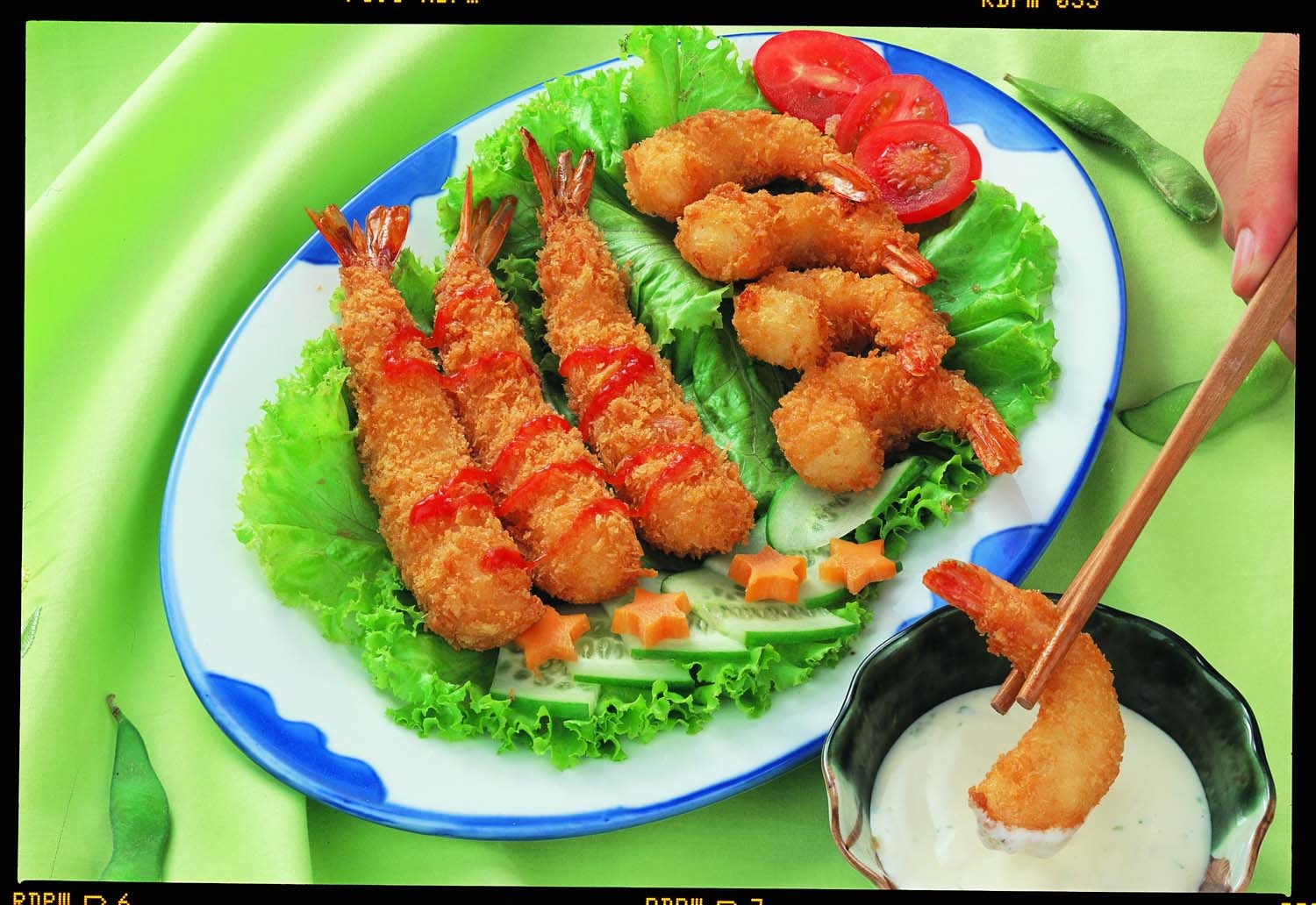 China Frozen Breaded Shrimp Stick, Frozen Seafood