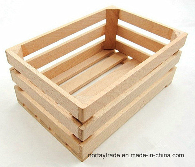 Good Quality Natural Beech Wood Box & Crate