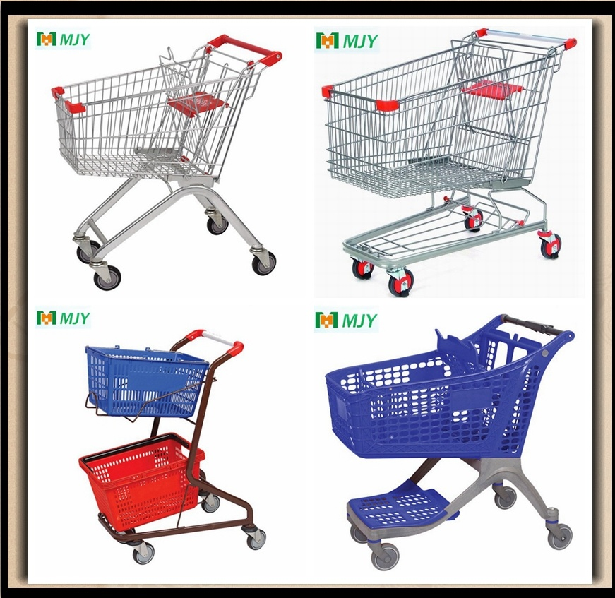 Supermarket Metal Shopping Cart From 60liters to 275 Liters