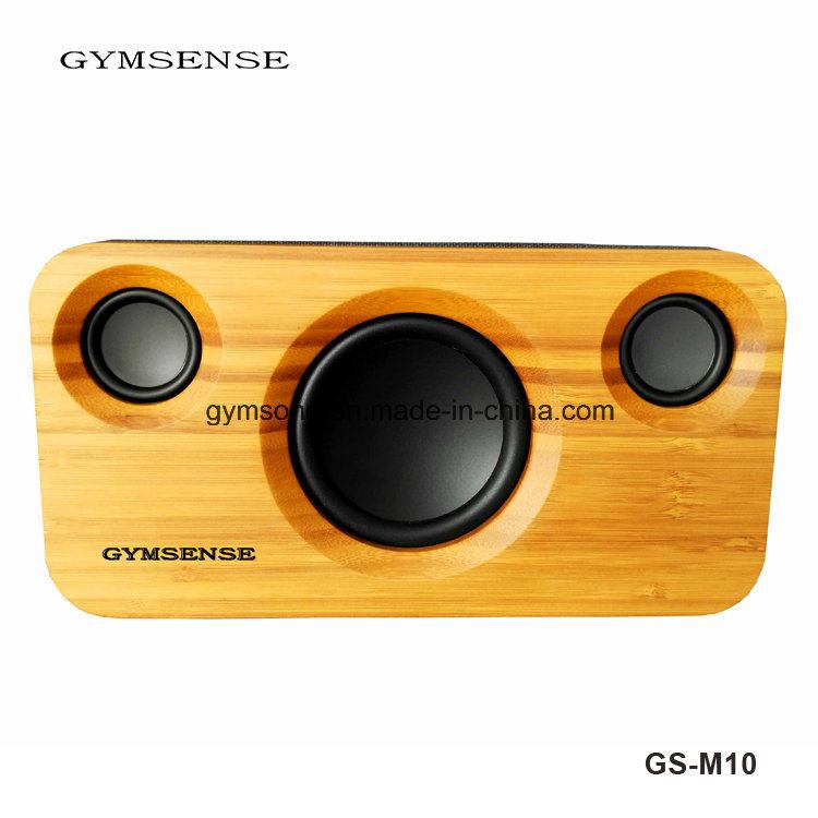 Gymsense Bamboo Bluetooth Speaker Wooden Bluetooth Stereo Audio System Speaker