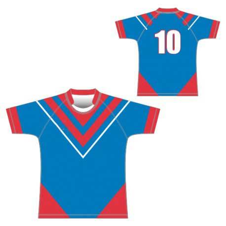 Dry Fit 100%Polyester Sublimation Rugby Shirts