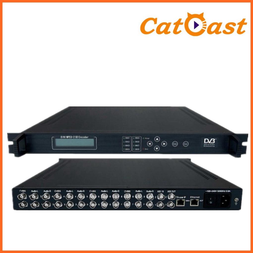 8 Channels MPEG-2 Encoder (CATV equipment)