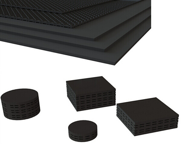 Solid Vibration Isolation Rubber Plates Multi-Layer Rubber Plates