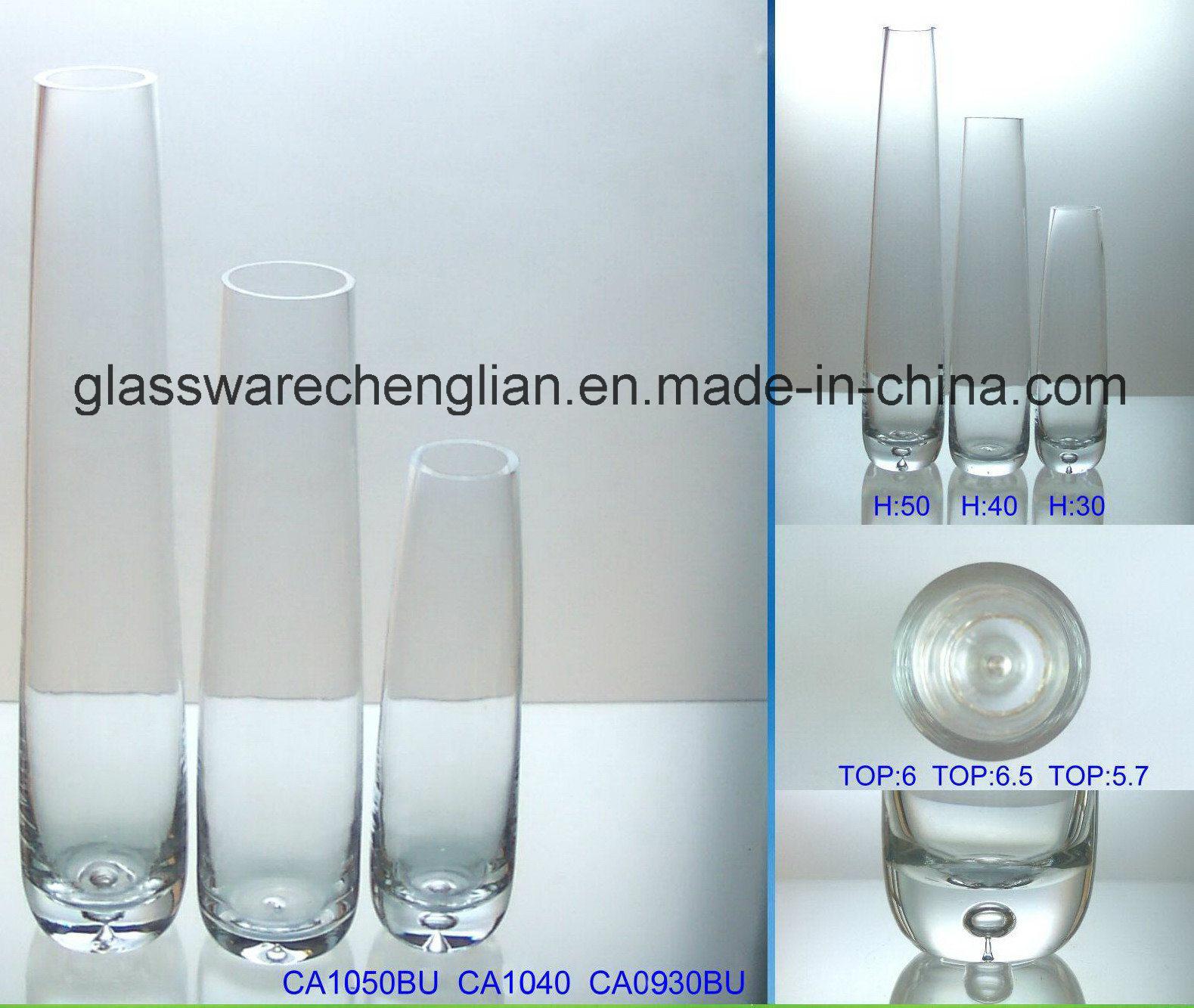 Hand Made Crystal Glass Flower Vase (V-026)