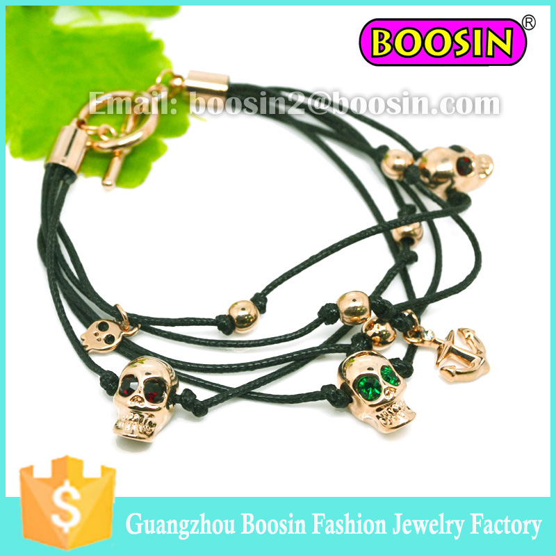 2016 Hot Sale Men′s Leather 18k Gold Love Bracelet Jewelry
