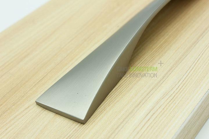 Brush Satin Nickel Zinc Alloy Cabinet Handle Drawer Pull