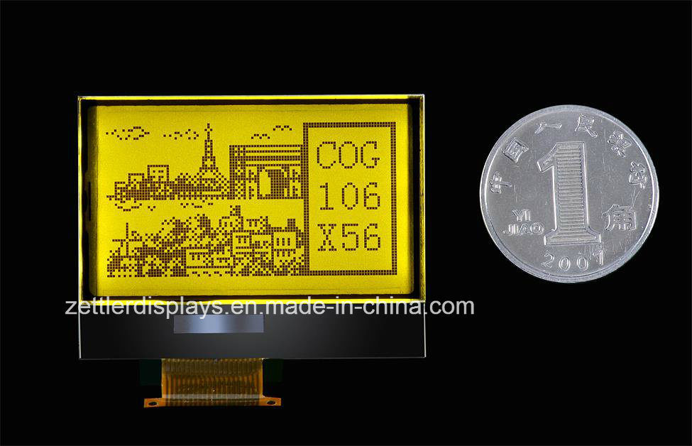 LCD Display Cog Module 106X56 Dots, with Backlight: Aqm1056b Series Module