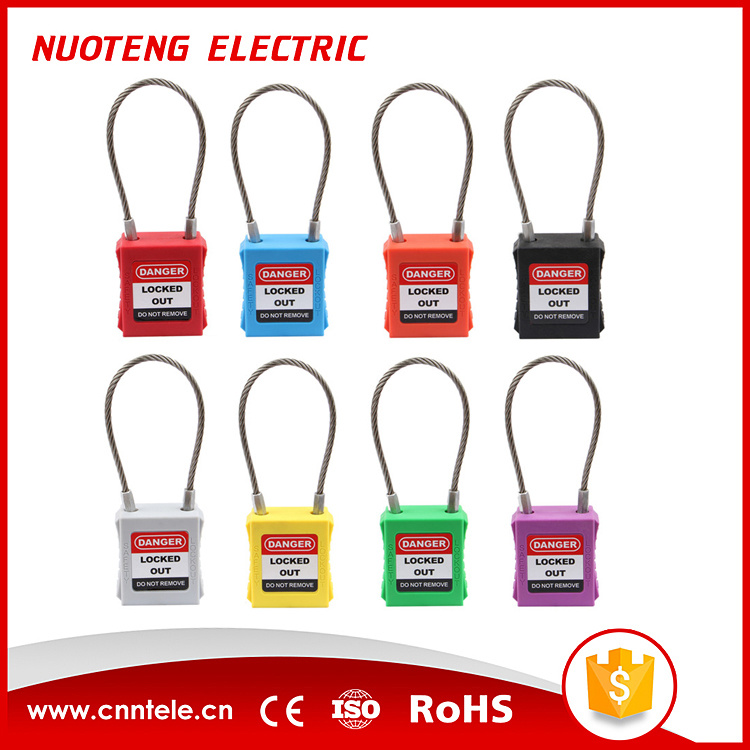 Steel Cable Shackle Safety Padlock