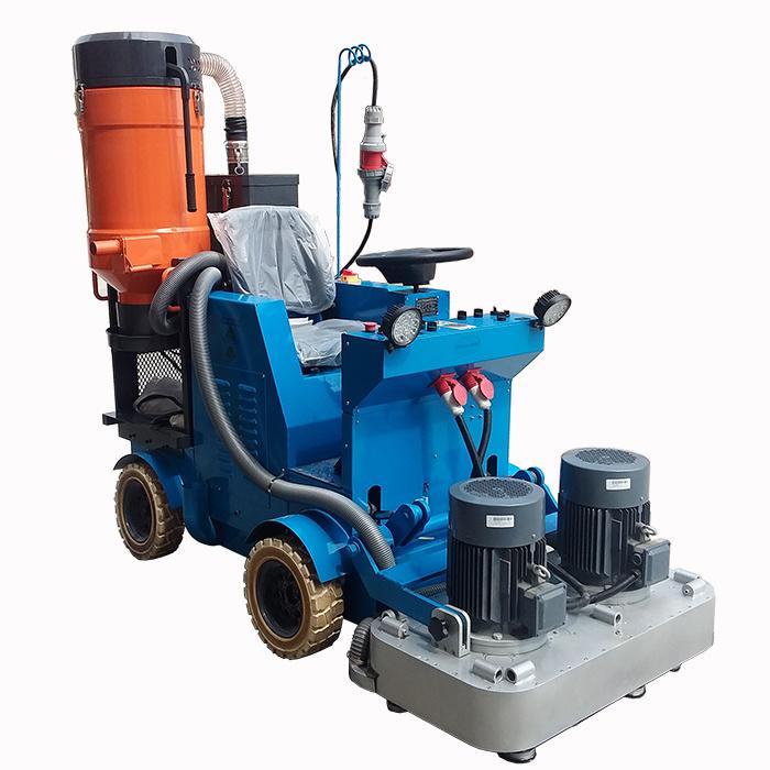 Concrete Floor Polishing Machine Driving on Polisher