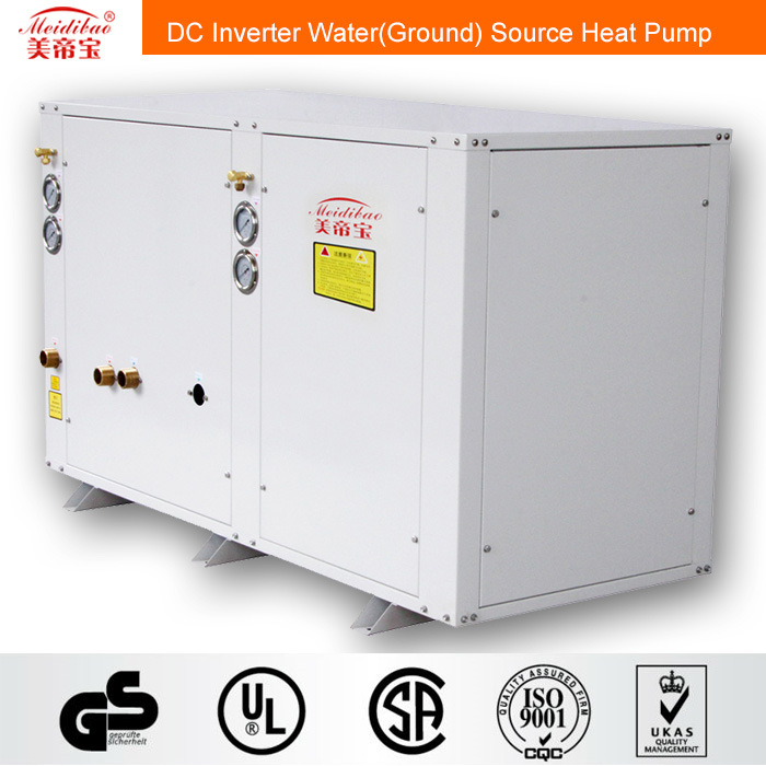 12kw DC Inverter Water (ground) Source Heat Pump for House Heating/Cooling+Hot Water