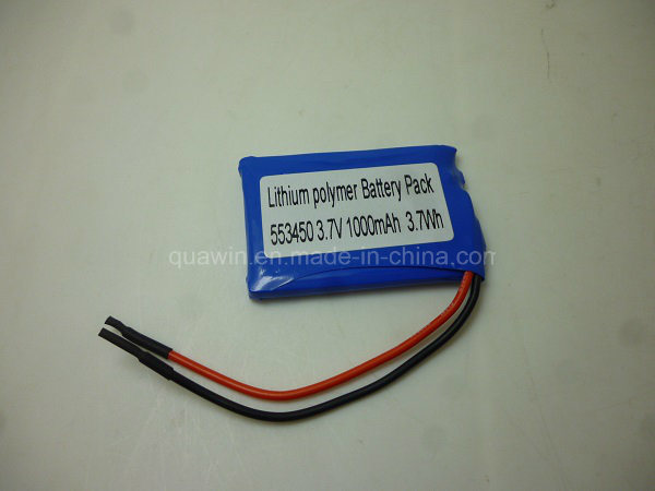 553450 Cell 3.7V 1000mAh Lithium Polymer Battery Pack