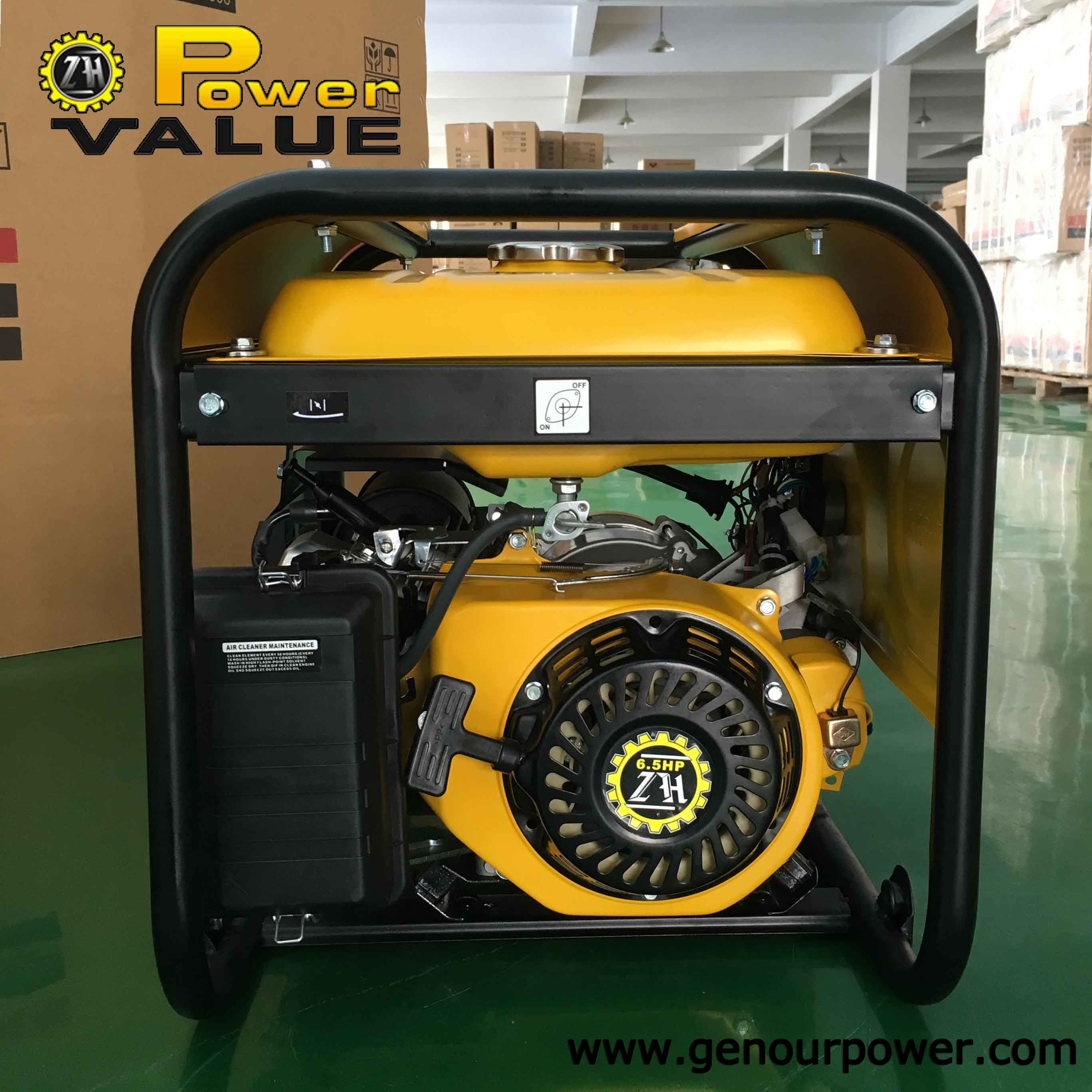 2000W 2kw 50Hz 220V Gx160 Engine Portable Petrol Electric Generator