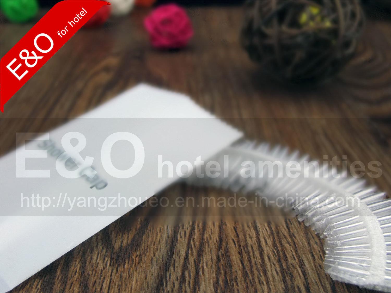 Disposable Hotel Amenities Stripe Shower Cap in Plastic Bag
