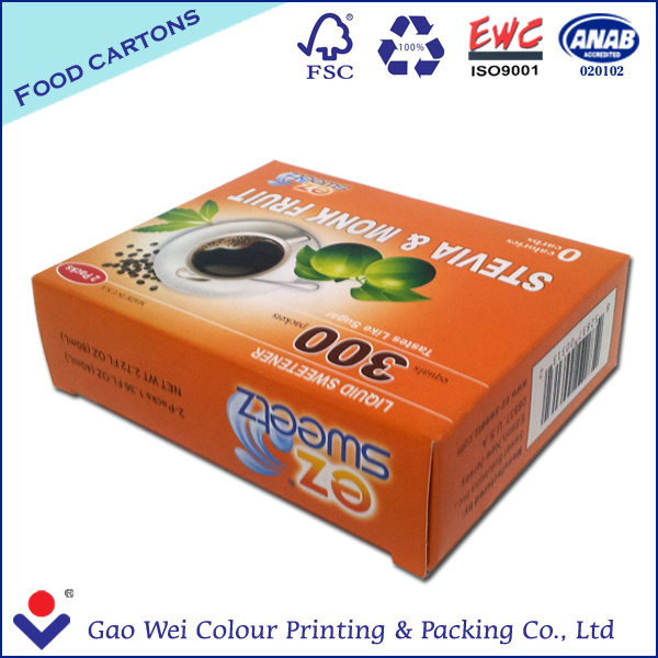 2016 Custom Logo Printed Disposable Recycled Paper Packing Box