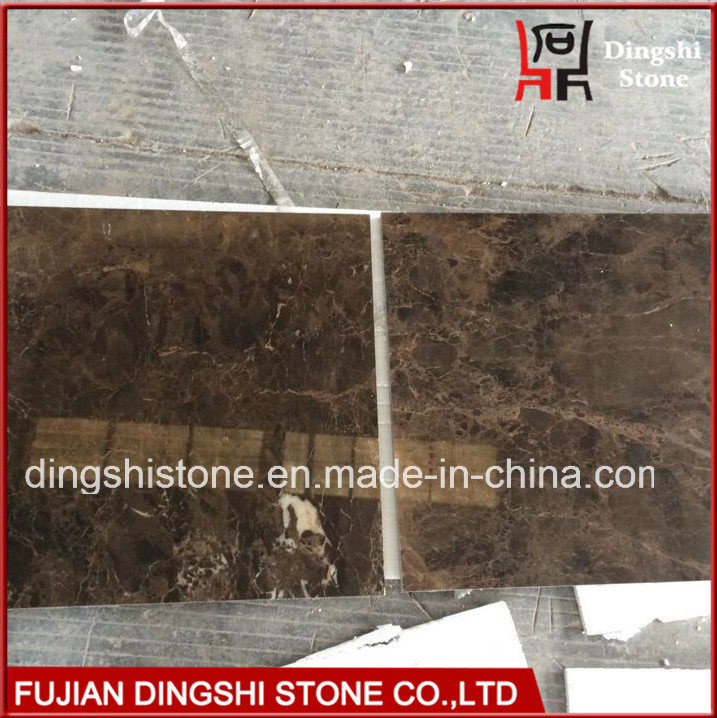 Natural Marble Dark Emperador Marble Tile for Flooring/Wall Tiles