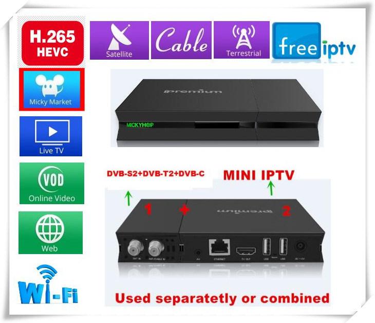 DVB-S/DVB-T/DVB-C/IPTV with Kodi Pre-Installed and TV Online Stalker