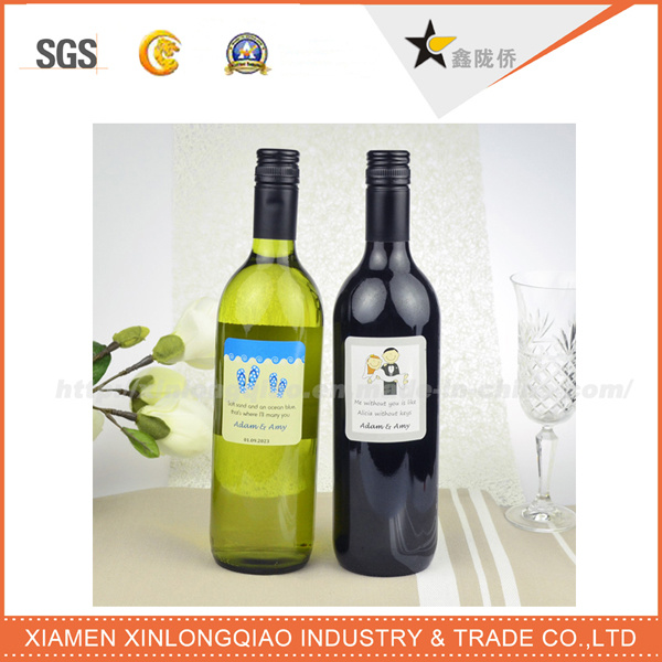 OEM Beverage Sticker Label Printing Wine Bottle Label