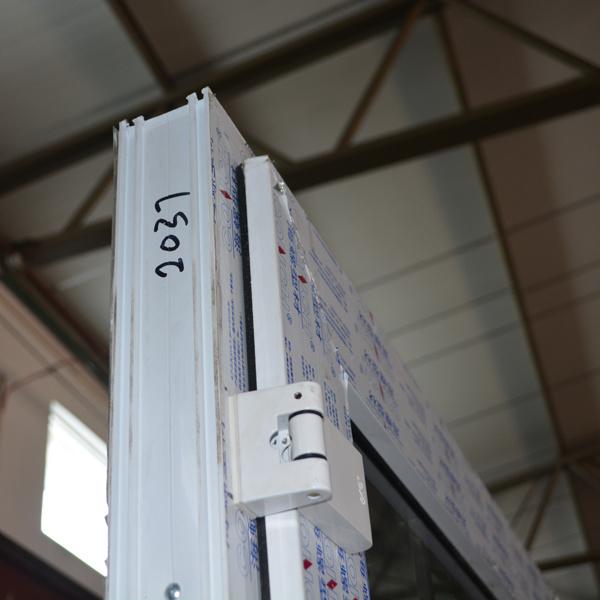 White Colour UPVC Profile Casement Door with Grid K02034