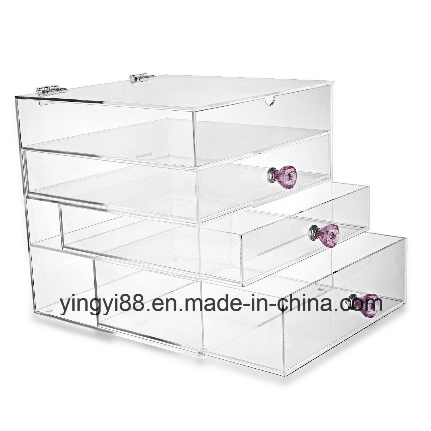 Custom Acrylic Makeup Organizer High Quality Acrylic Cosmetic Organizer