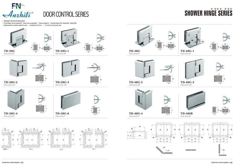 Stainless Steel Hinge Bathroom Accessories Bathroom Fitting