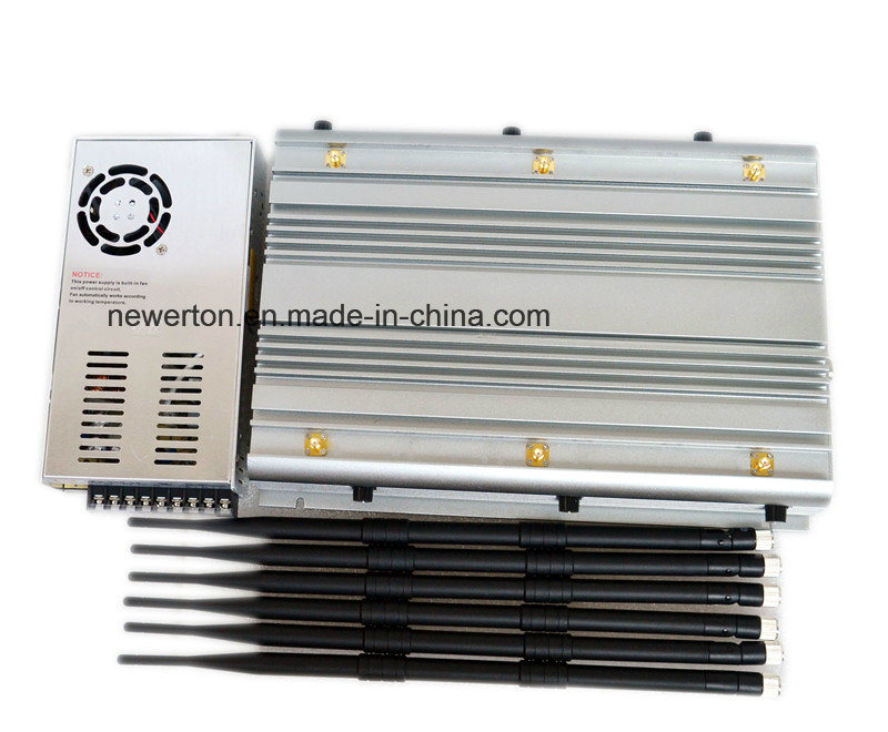 2016 High Power Cellular 2g 3G 4G Phone Jammer/ 90watt WiFi GPS UHF VHF 315MHz 433MHz Jammer
