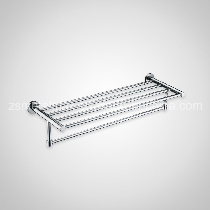Stainless Steel Bathroom Wall Mounted Bar Towel Shelf (GJ006)
