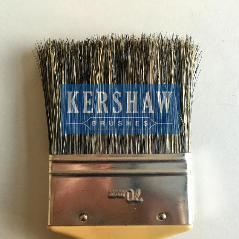 Paint Brush (paintbrush, 100% pure gray bristle flat brush with plastic handle)
