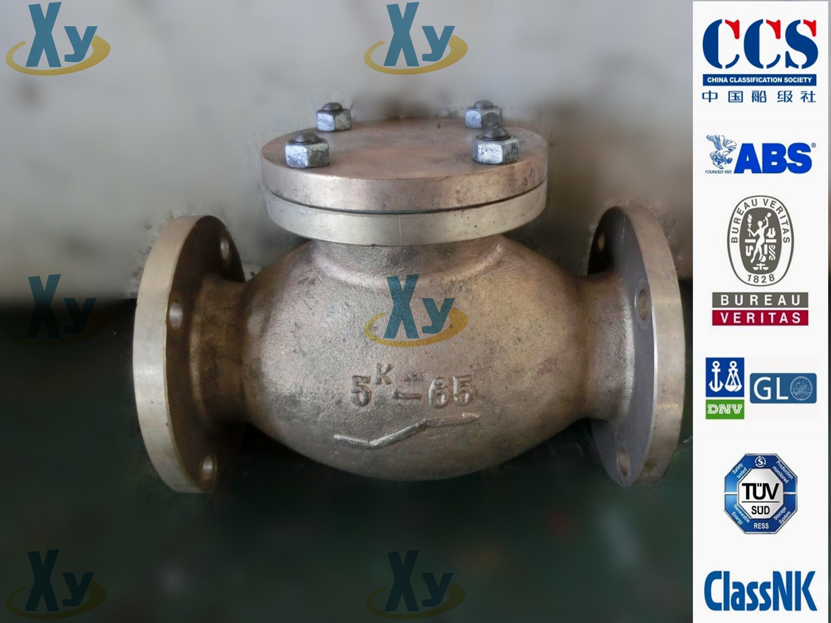 Marine Cast Iron Lift Check Valve JIS F7358 5k