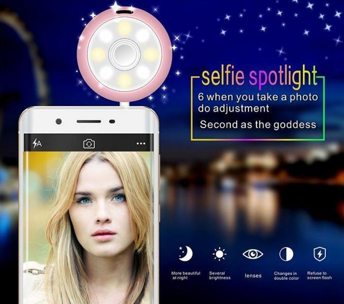 Beauty Speaker Portable Audio Device Fill-in Light Plus Mini Speaker Selfie Helper