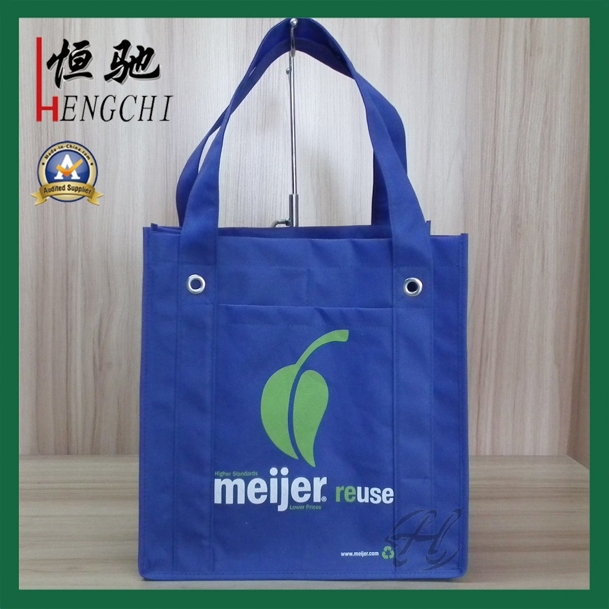 Non Woven Shopping Bag with Wine Holder for Supermarket