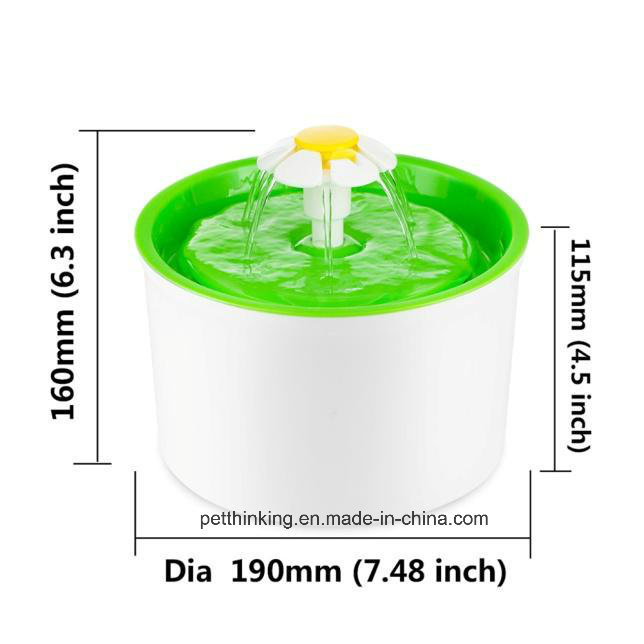Automatic Electronic Pets Flower Style Pet Water Fountain, Pet Drinker