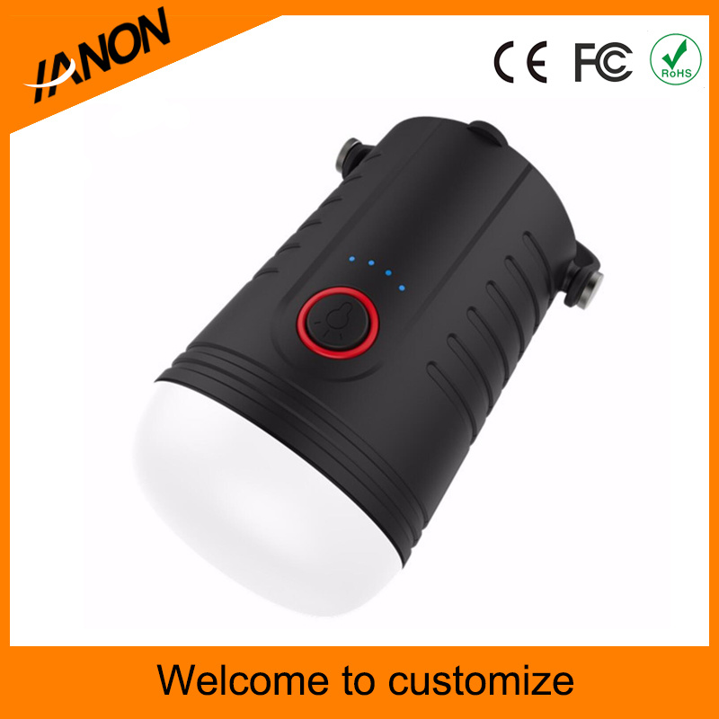 8-LED Mini Portable Rechargeable LED Camping Lantern with 4000mAh Power Bank