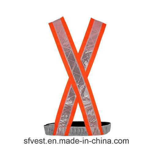 100% Polyester Hi Vis Safety Reflective Vest PVC Tape Safety Belt for Traffic or Riding