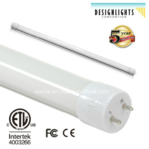 Dlc Listed T8 LED Tube with Rotatable Ends for Commercial Lighting